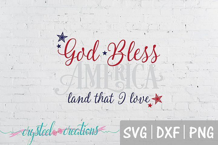 God Bless America SVG, DXF, PNG