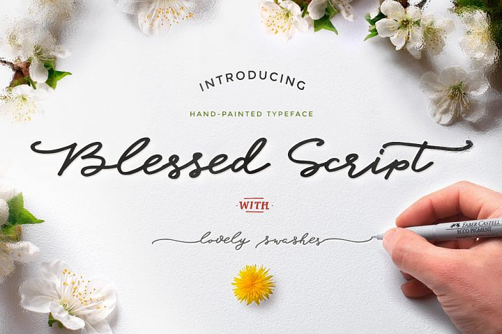 Blessed Script with sweet BONUS