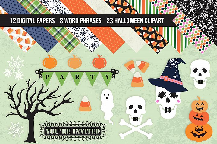 Mega Halloween Digital Pack - Clipart