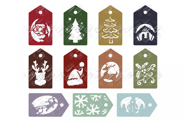 Christmas Tag SVG Gift Presents in SVG, DXF, PNG, EPS, JPEG