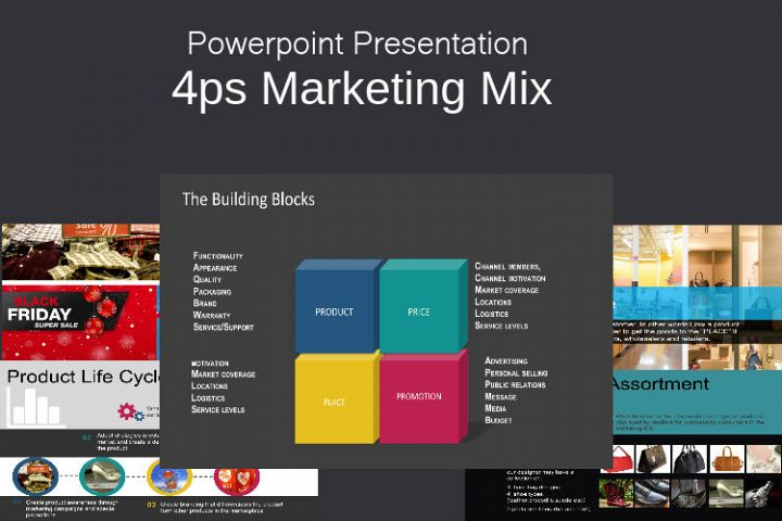 4ps Marketing Mix Powerpoint template