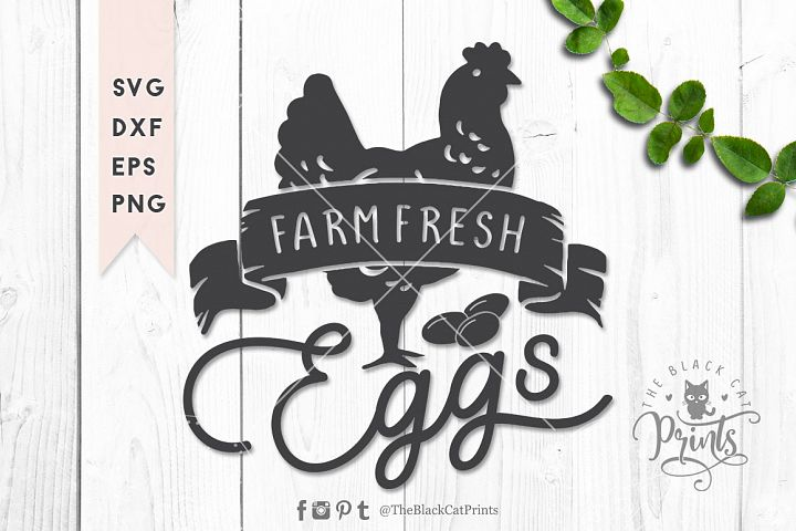 Farm fresh eggs SVG DXF EPS PNG