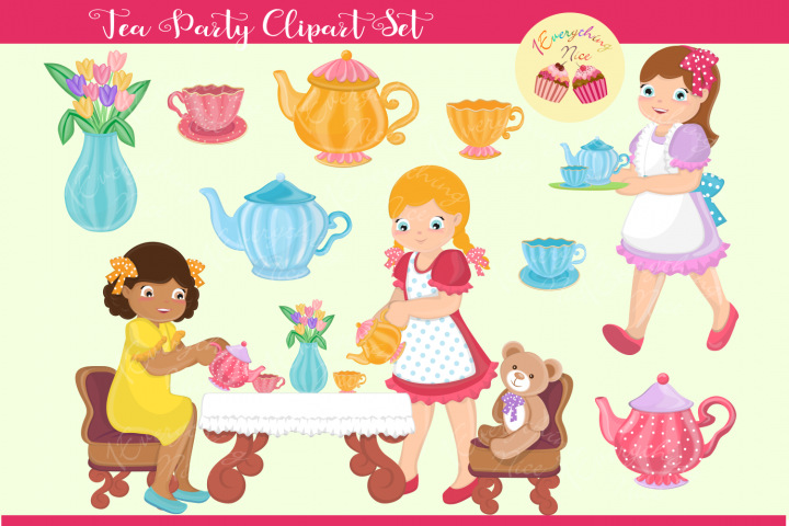 Tea Party Clipart Set