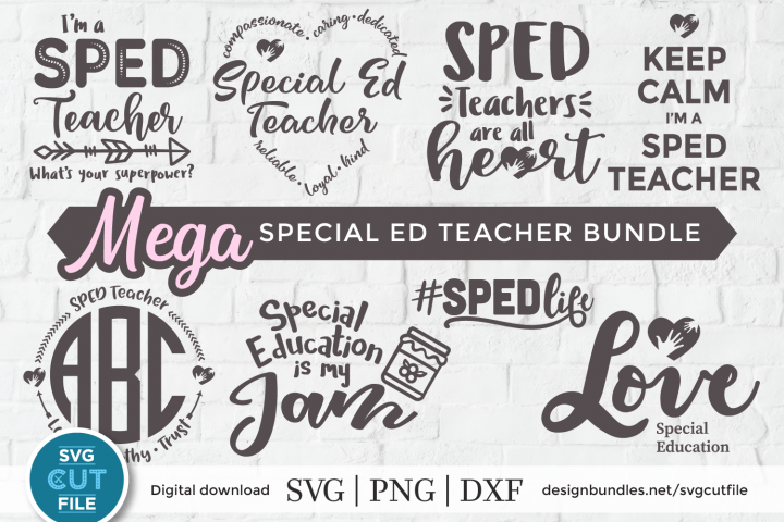SPED svg bundle, SPED teacher svg, Special Education svg dxf
