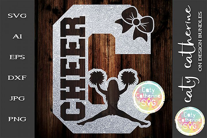 Letter C Cheerleading Monogram Letters SVG Cut File