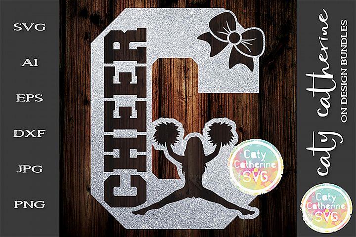 Letter C Cheerleading Monogram Letters SVG Cut File