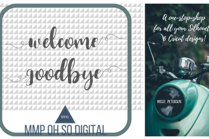 Welcome SVG, Goodbye SVG, Front Door, Back Door, Text Vector, Cut file, for silhouette, for cricut