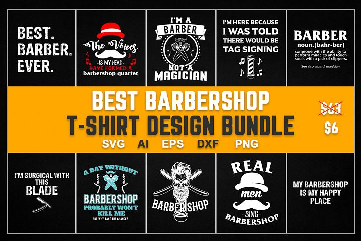 Best Barbershop T-Shirt Design Bundle