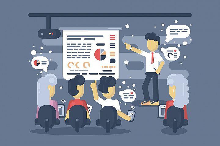 Work Presentation illsutration
