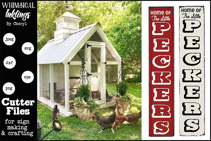 Little Peckers-Chicken Coop Vertical SVG