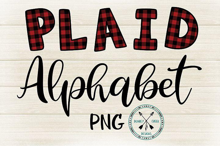 Plaid PNG Alphabet for Sublimation