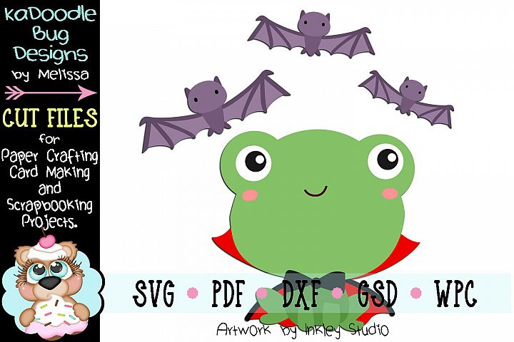Halloween Dracula Frog Cut File - SVG PDF DXF GSD WPC