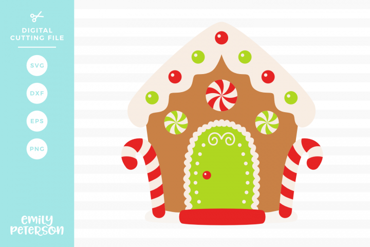 Gingerbread House SVG DXF EPS PNG