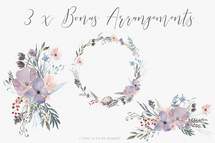 Watercolor Floral Clipart - Hazy Fields - Free Design of The Week Design 2