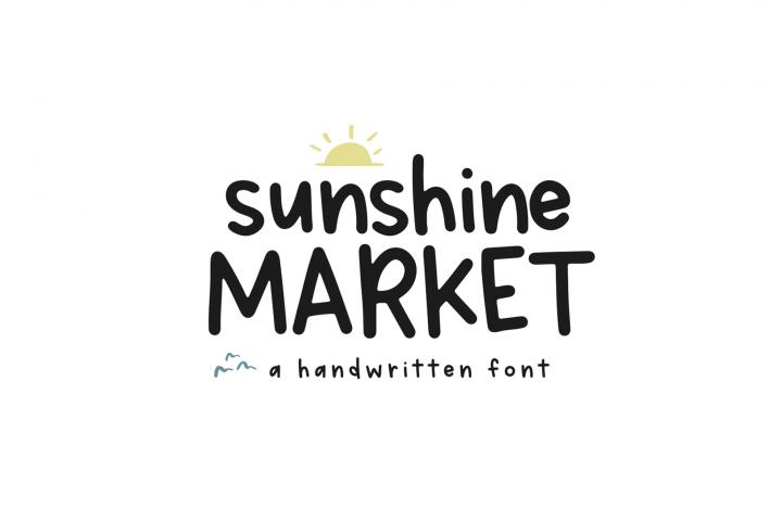 Sunshine Market - A Handwritten Font