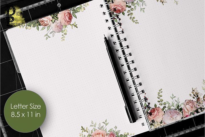 Printable Notes Pages Pink Roses, Notes Pages