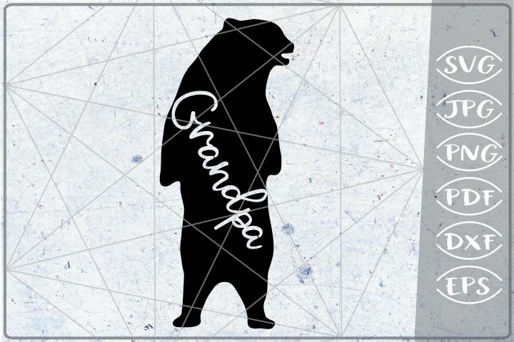 Grandpa Bear SVG Cutting File Mothers Day svg png cricut