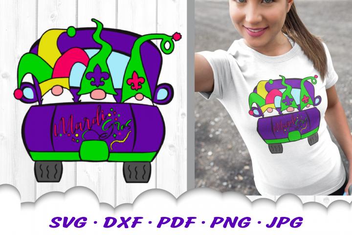 Mardi Gras Truck Gnomes Gnome SVG DXF Cut Files