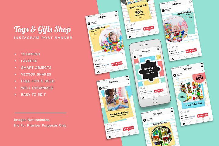 Toys Gift Shop Instagram Post Banner