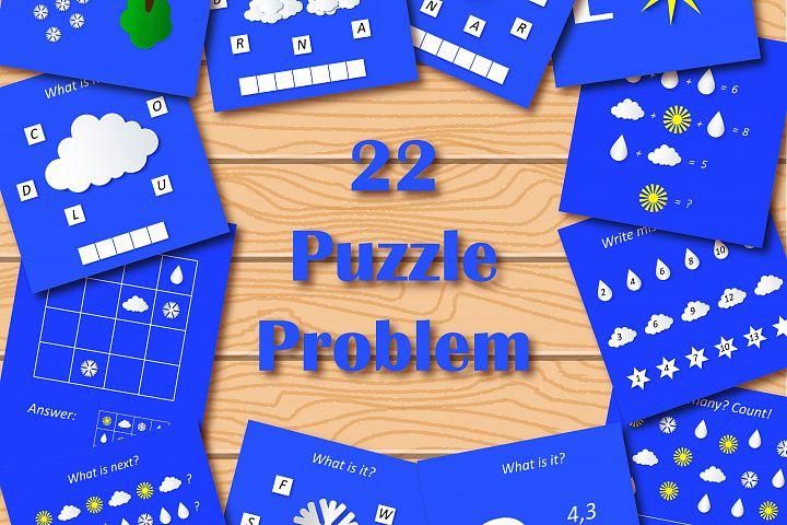Easy preschool educational brainteasers set