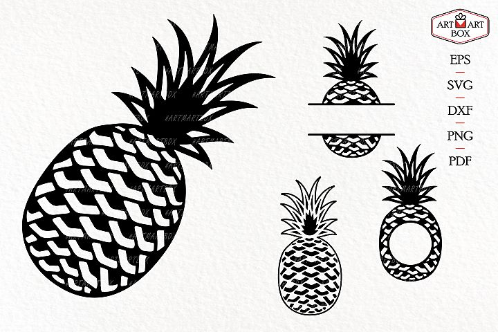 Pineapple set for machine cutting.