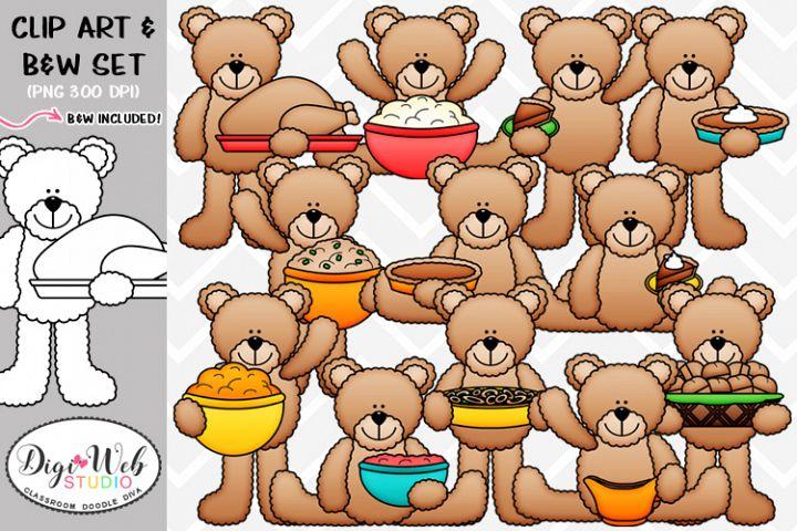 Clip Art / Illustrations - Thanksgiving Teddy Bears