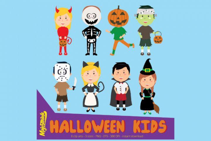 Halloween Clip Art - HALLOWEEN KIDS