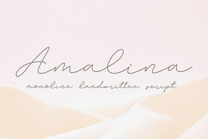 Amalina Monoline Script Font