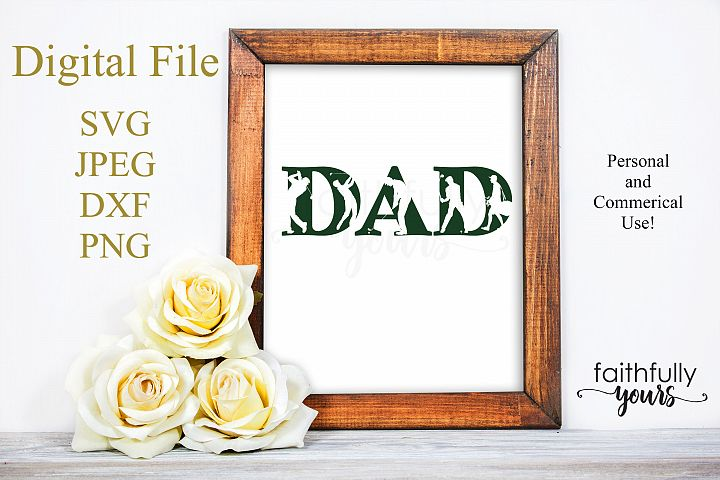 Dad with golfer and golfing cutouts SVG JPEG DXF PNG