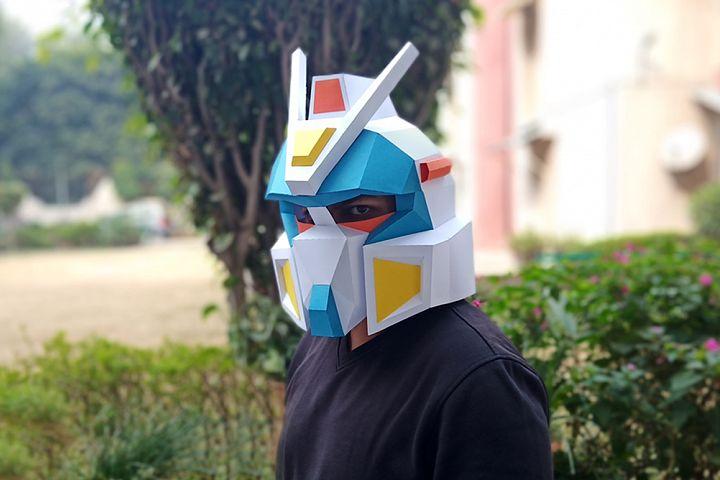 DIY Gundam Helmet - 3d papercraft