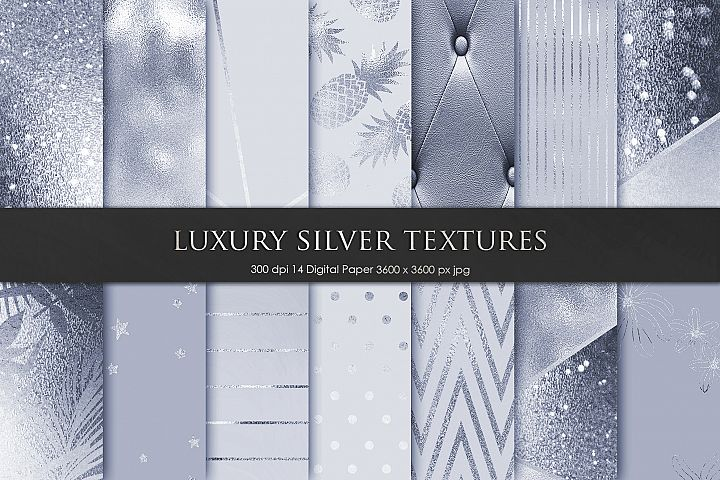 Luxury Silver Metallic Textures