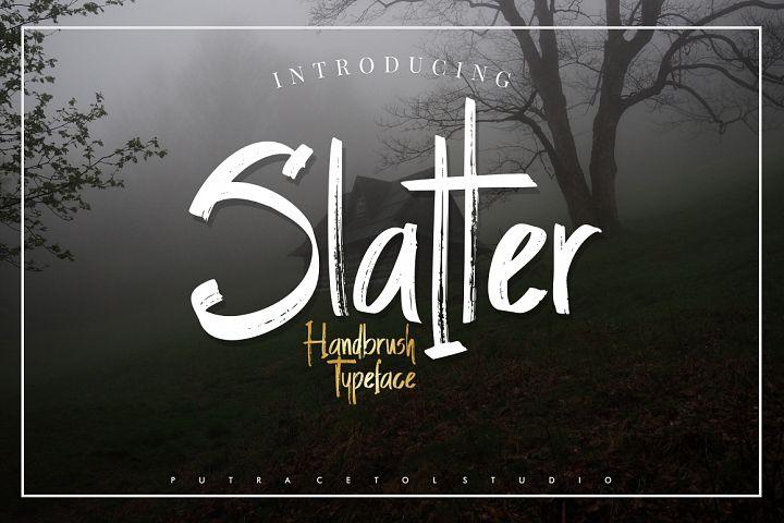 Slatter - Handbrush Typeface