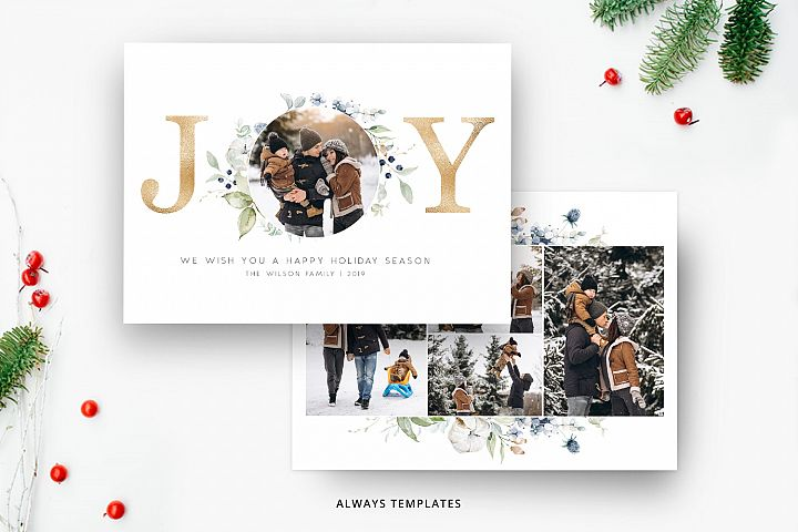 Christmas Card Template CC074