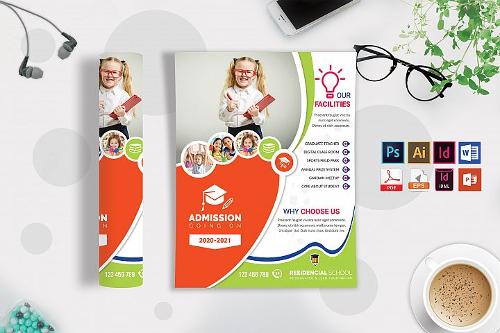 School Flyer Template Vol-06