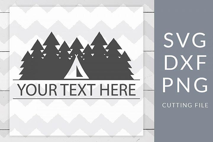 Camping Monogram SVG, DXF, PNG, Cut File