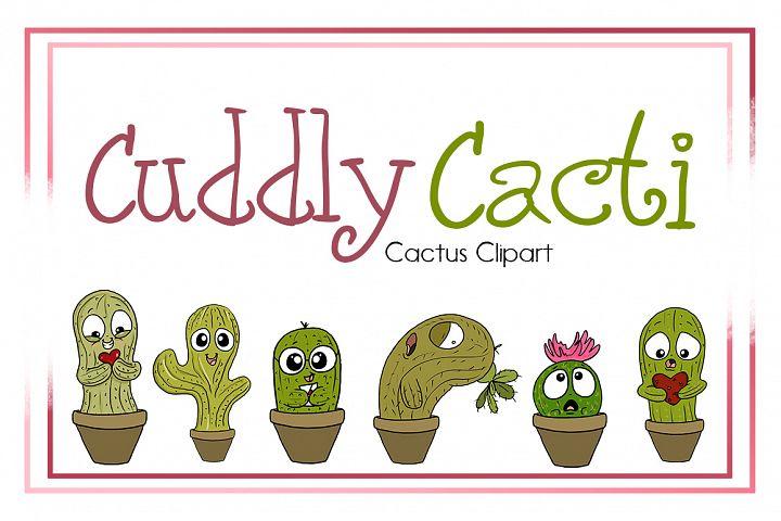 Cactus Clipart | Cuddle Cacti | PNG Cactus Designs
