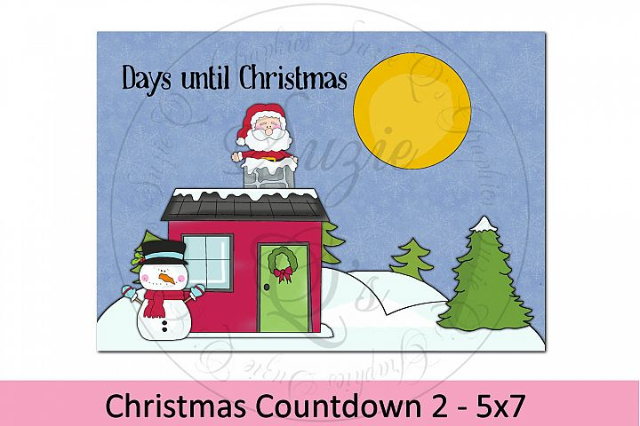 Christmas Countdown Print 5 x 7 Two