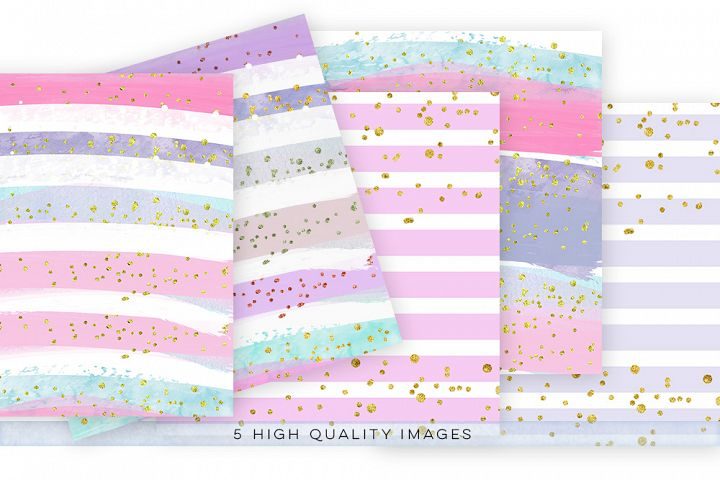 watercolor confetti paper, digital download watercolor confetti paper, watercolor digital paper pack, gold paper pack, rainbow paper