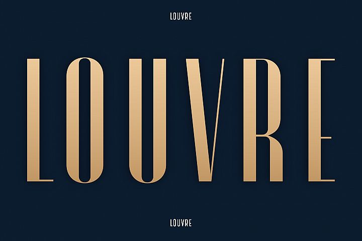 Louvre Classic Display Font