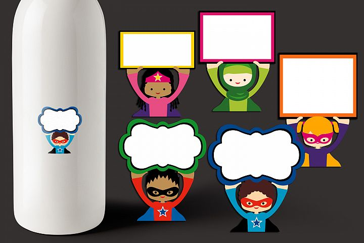 Back to school graphics - Superhero holding sign board