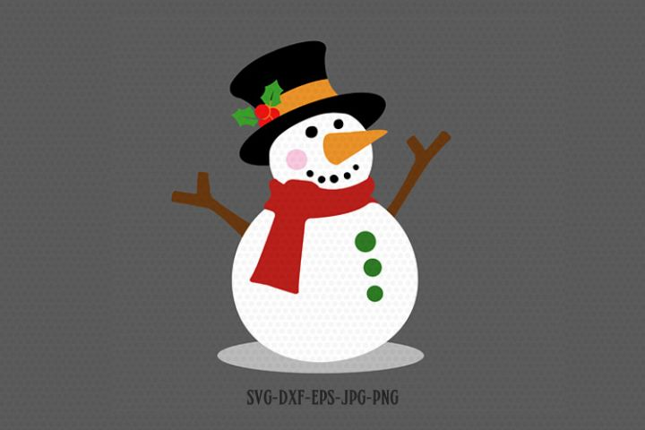 Snowman svg, Christmas snowman svg, let it snow snow