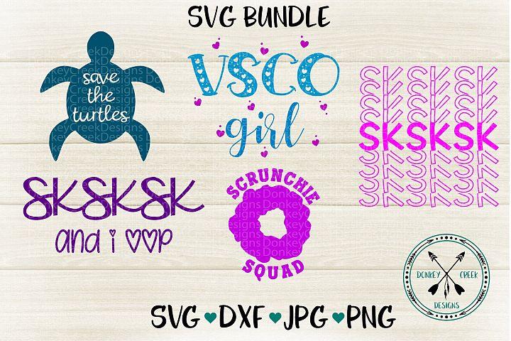 VSCO Girl SVG Bundle