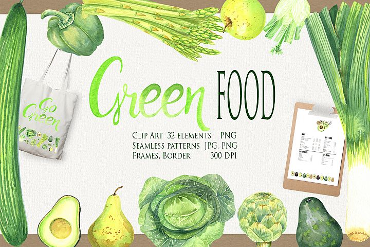 Green FOOD Clip Art