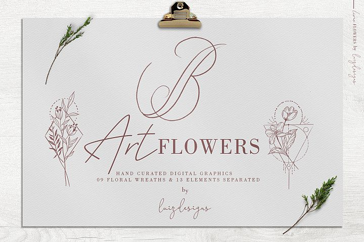 Art Flowers| Leafs Clipart