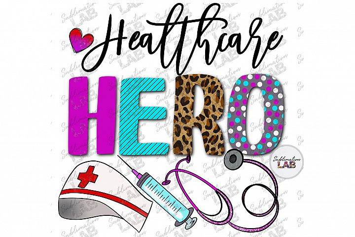 Healthcare Hero Digital Sublimation File PNG Medical Doctor