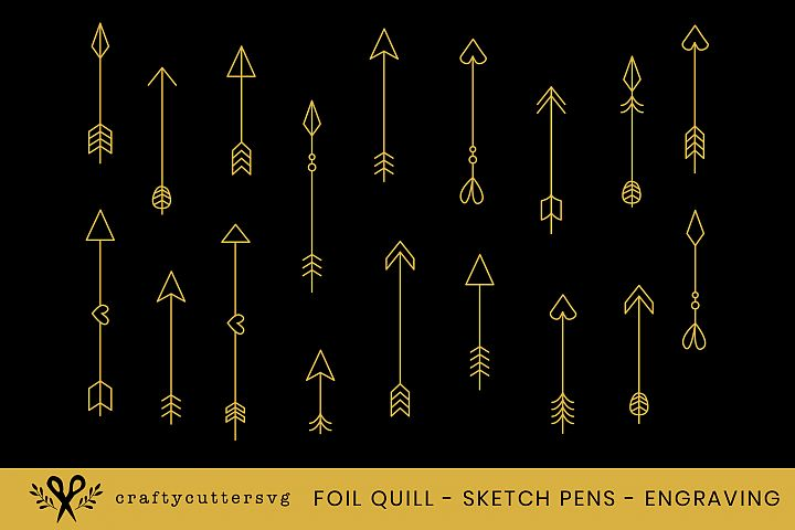 Foil Quill Arrows Embossing Sketch Pens Engraving Arrow