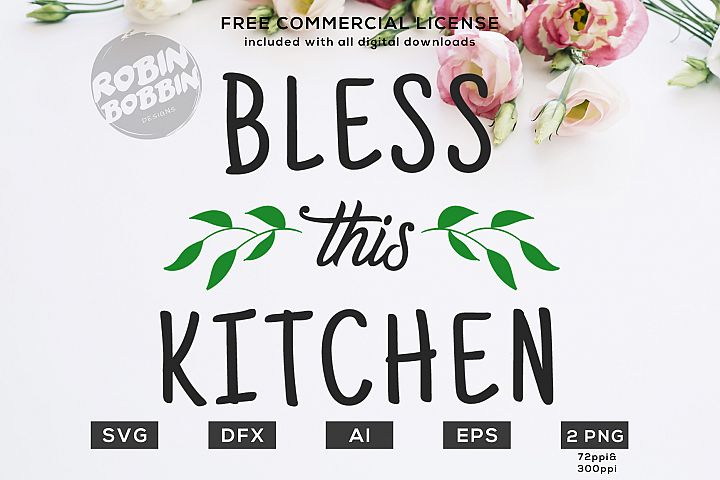 Bless This Kitchen Design for T-Shirt, Hoodies, Mugs
