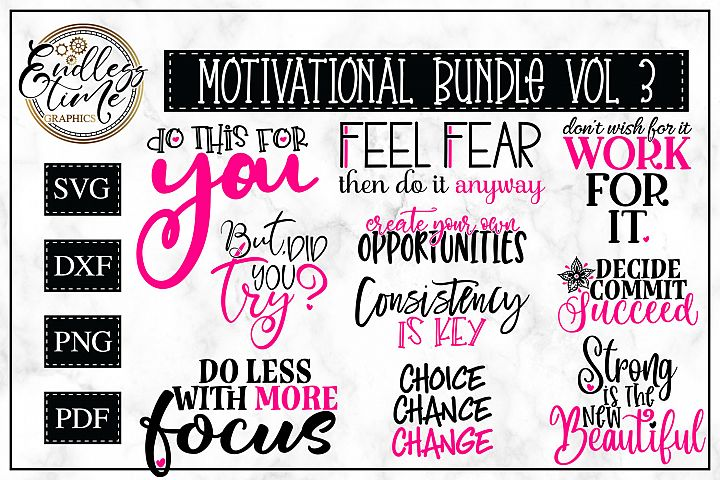 Motivational Quotes Bundle 3 - An Inspirational SVG Bundle