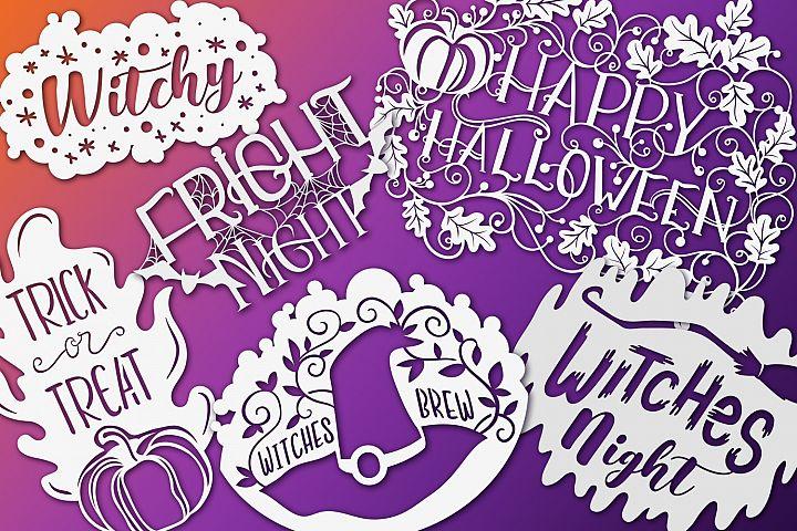 Halloween Papercut Bundle- 10 items & Bonus