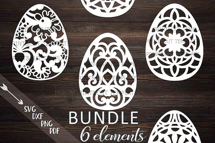 Easter Zentagle Mandala Patterned eggs bundle svg cut files